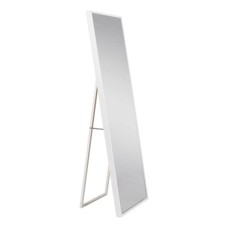 Kate And Laurel Evans Wood Framed Free Standing Mirror & Reviews Intended For Free Standing Black Mirrors (#21 of 30)