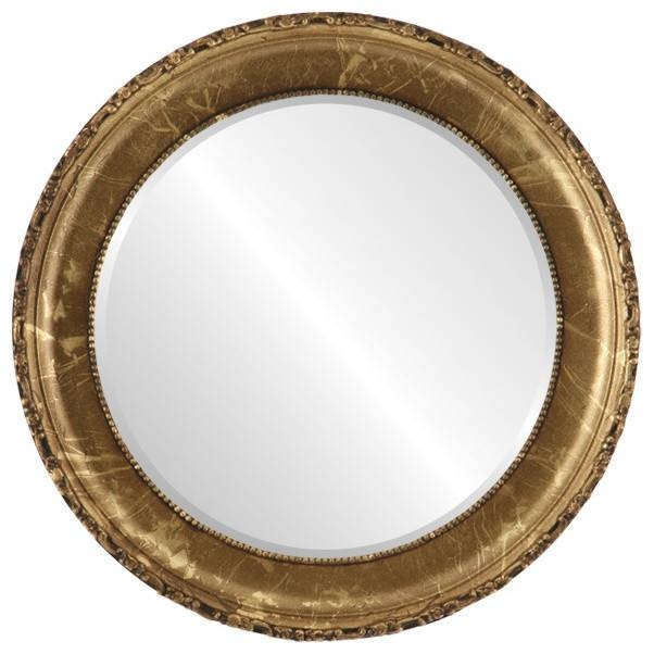Kensington Framed Round Mirror In Champagne Gold – Traditional Throughout Gold Round Mirrors (View 15 of 20)