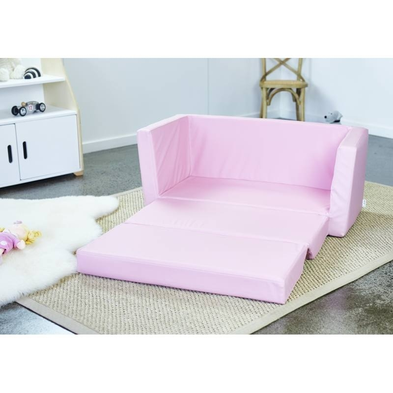 Kids flip out sofa bed marshmallow furniture children s 2 in 1 flip open foam sofa thesofa Toddler flip out sofa couch bed