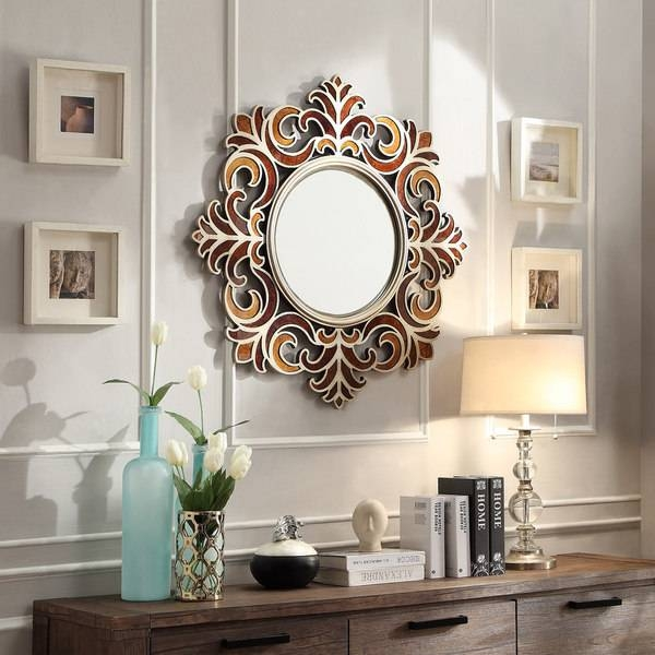 Kiona Roccoco Frame Bronze Finish Accent Wall Mirror – Free With Bronze Wall Mirrors (#13 of 20)