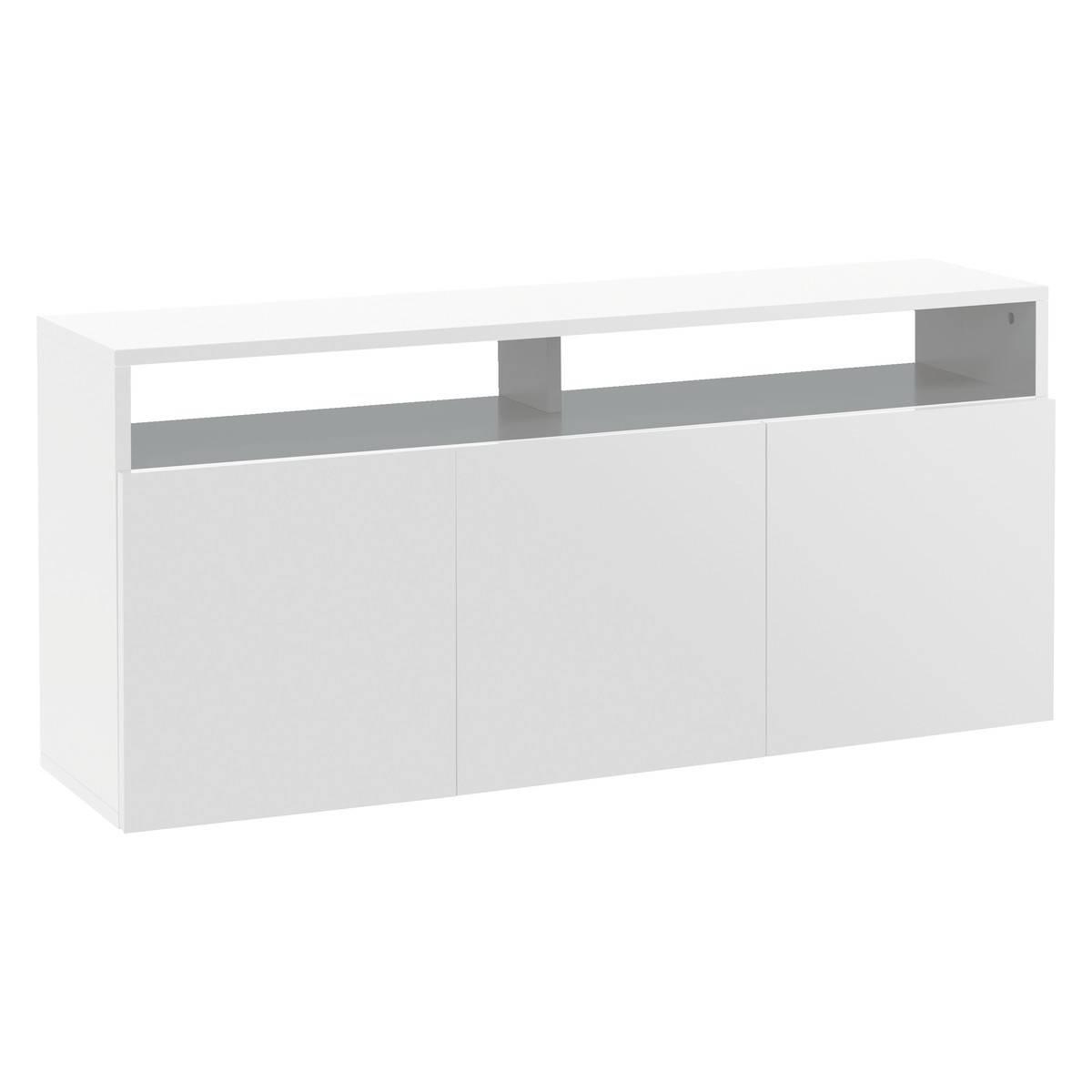 Kubrik White High Gloss Large Sideboard | Buy Now At Habitat Uk Pertaining To Sideboard White Wood (View 5 of 20)