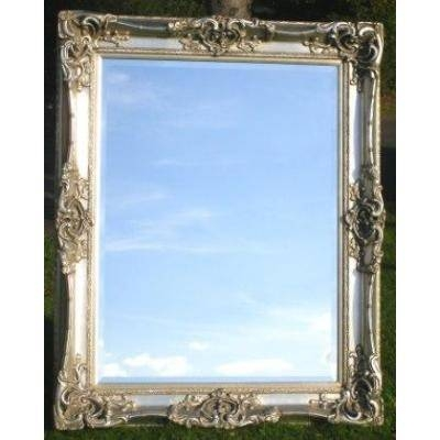 Lage 5Ft Antique Silver Gilt Monaco Mirror  Ayers & Graces Online For Silver Gilt Mirrors (#12 of 20)