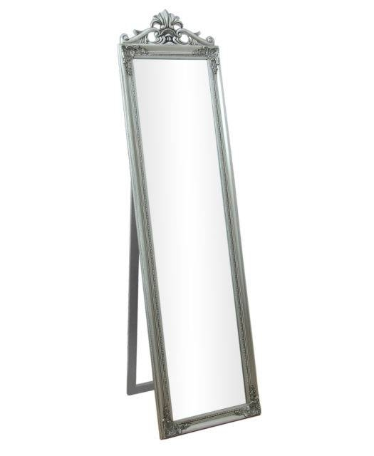Lambeth Silver Shabby Chic Cheval Freestanding Full Length Bedroom With Shabby Chic Free Standing Mirrors (#24 of 30)