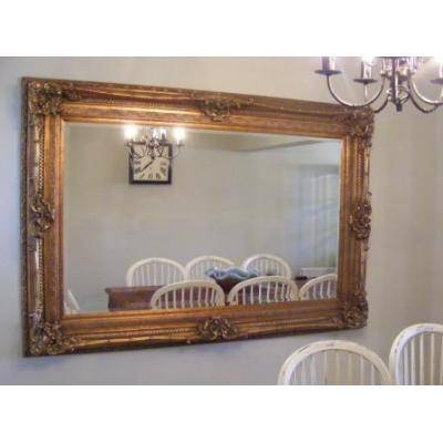 """Large 6Ft 2"""" Ornate Gold Rococo Mirror – Ayers & Graces Online Throughout Large Rococo Mirrors (View 21 of 30)"""