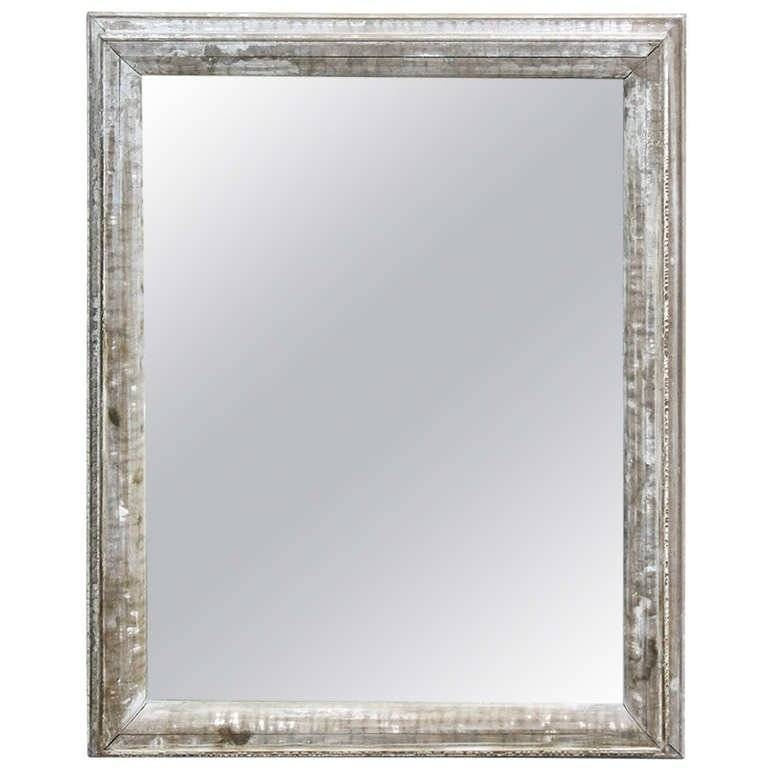 Large Antique Distressed Wood Framed Mirror At 1Stdibs Regarding Distressed Framed Mirrors (#22 of 30)