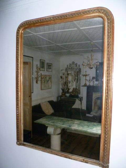 Large Antique French Gilded Overmantle Mirror | 107163 In Antique Overmantle Mirrors (#18 of 20)