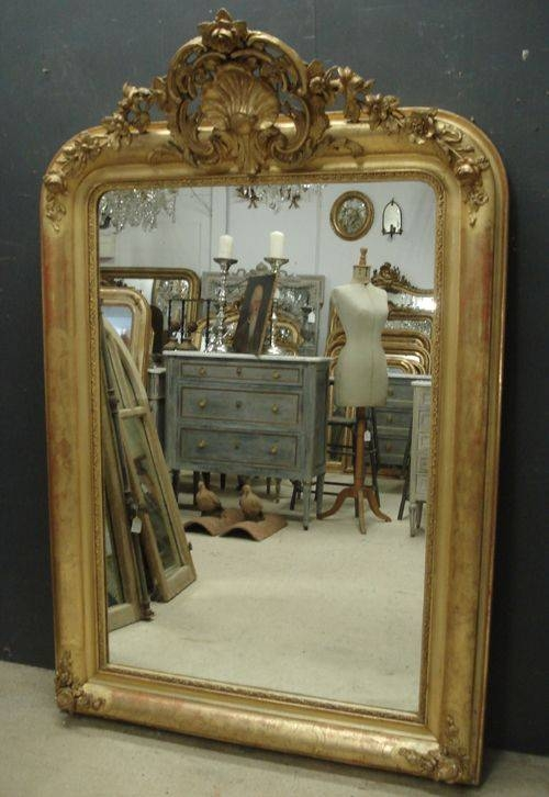 Large Antique French Mirror | 246000 | Sellingantiques.co (#24 of 30)