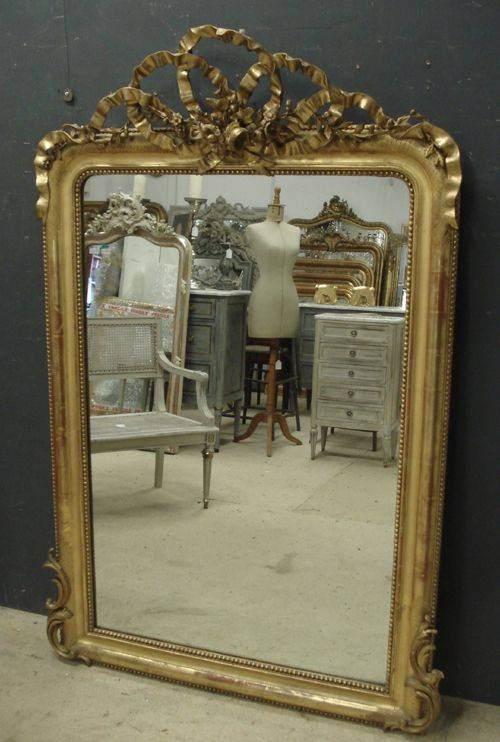 Large Antique French Mirror | 248025 | Sellingantiques.co (View 29 of 30)