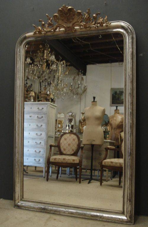 Large Antique French Mirror | 324434 | Sellingantiques.co (#26 of 30)