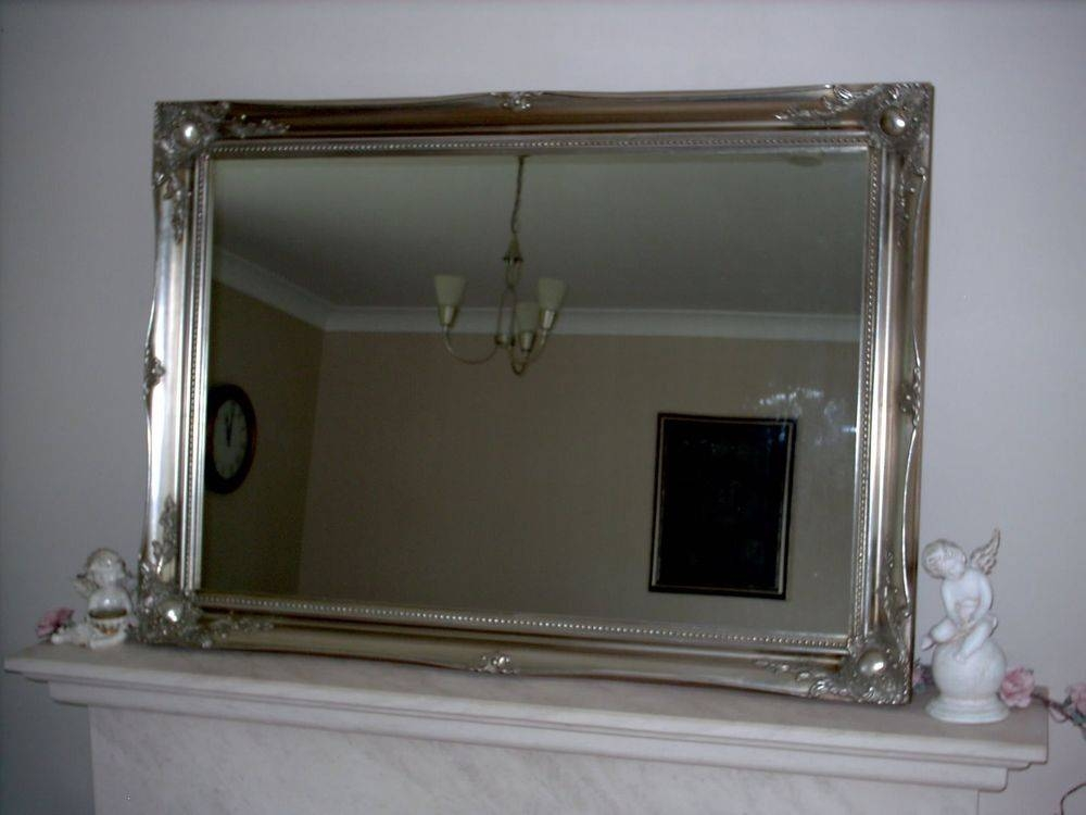 Large Antique Style Wall Mirror – Gold Silver Black White Cream Pertaining To Black Large Mirrors (#12 of 20)