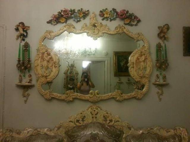 Large Antique Victorian Wall Mirror Flowers For Sale – $600 Regarding Large Antique Wall Mirrors (#15 of 20)