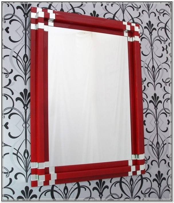 Large Arched Wall Mirror | Home Design Ideas Inside Red Wall Mirrors (#15 of 30)