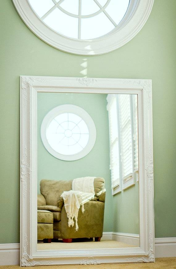Large Bathroom Mirror Large Mantel Mirror 44x32 Within Large Ornate White Mirrors (View 17 of 20)