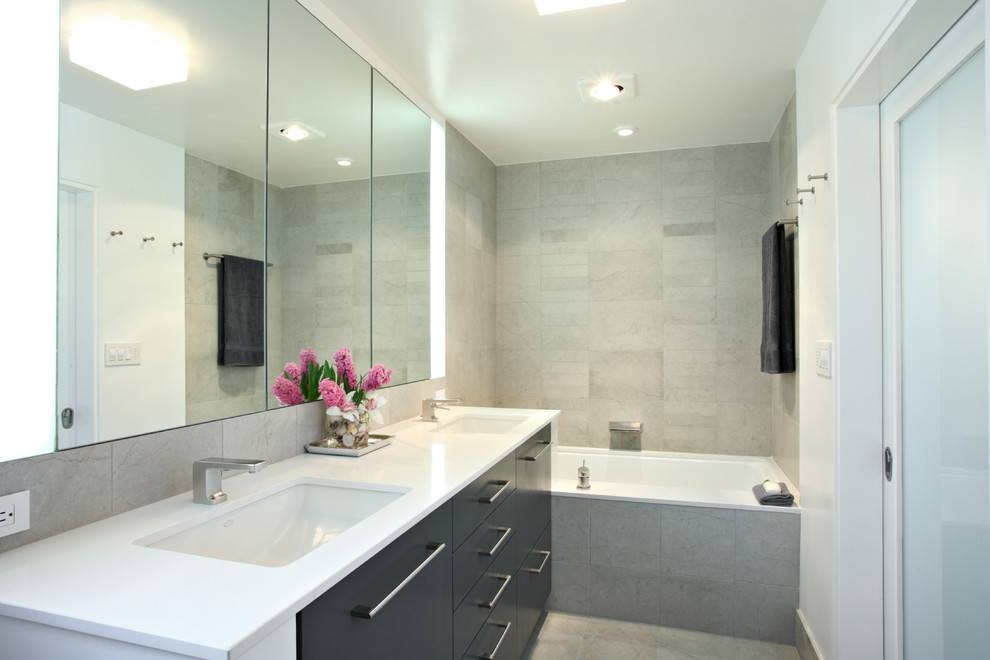 Large Bathroom Mirrors Bathroom Contemporary With Bathroom Black Regarding Black Cabinet Mirrors (#28 of 30)