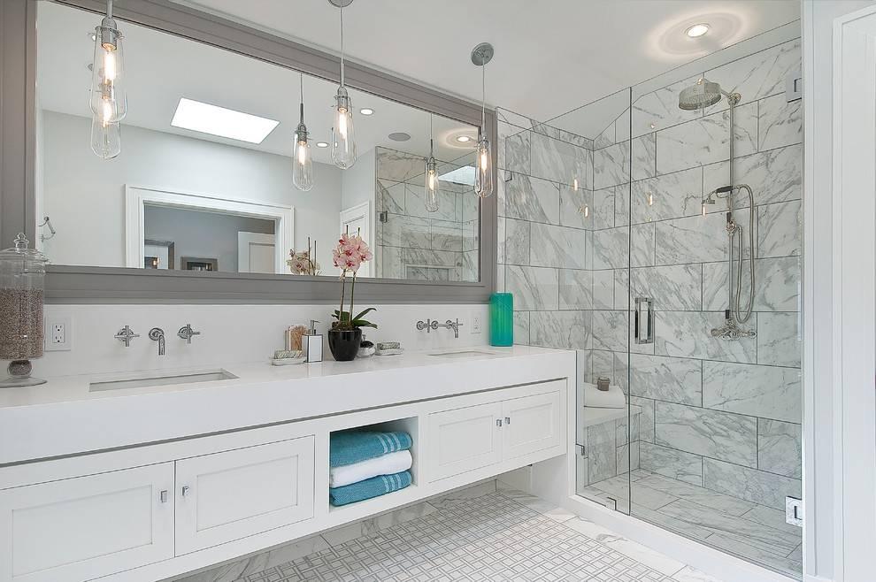 Large Bathroom Mirrors : Create Magical Illusion With Large With Large No Frame Mirrors (#15 of 20)