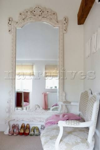 Large Bedroom Mirror Intended For Large Ornate White Mirrors (View 3 of 20)