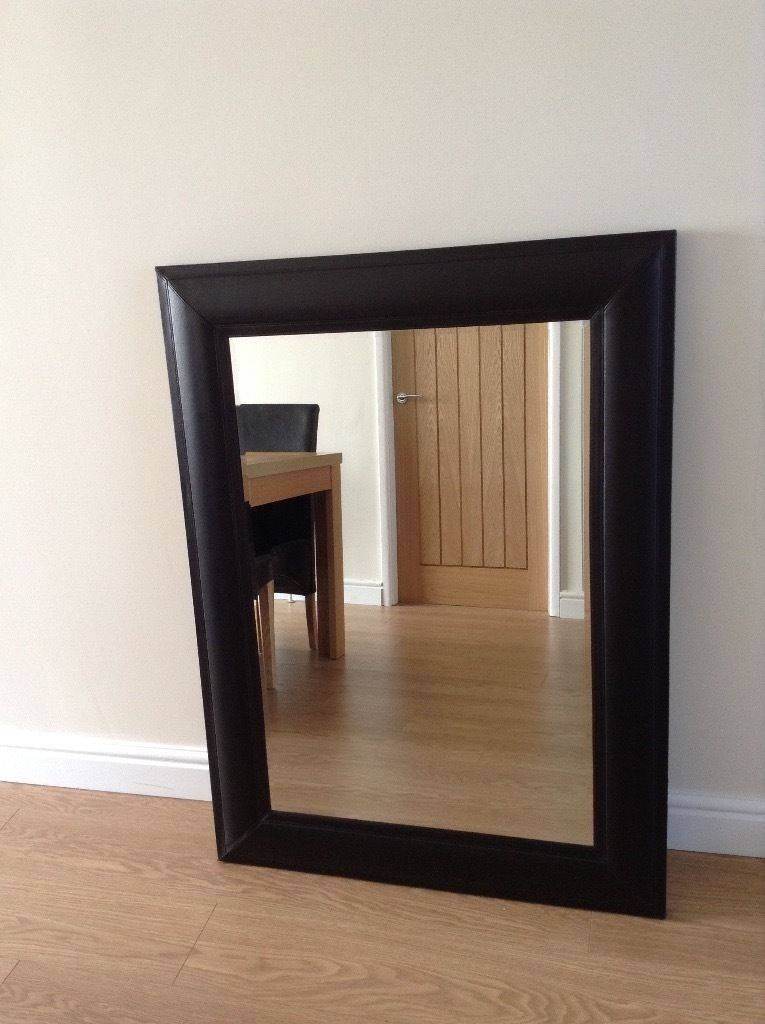 Large Black Faux Leather Mirror | In Sheffield, South Yorkshire Throughout Black Faux Leather Mirrors (#14 of 20)