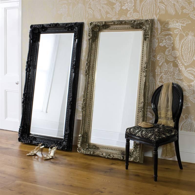 Large Black Floor Mirror – Excellent Design With Large Floor With Black Floor Standing Mirrors (#27 of 30)