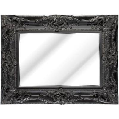 Large Black Ornate Monaco Mirror – Ayers & Graces Online Antique Within Large Black Vintage Mirrors (#24 of 30)