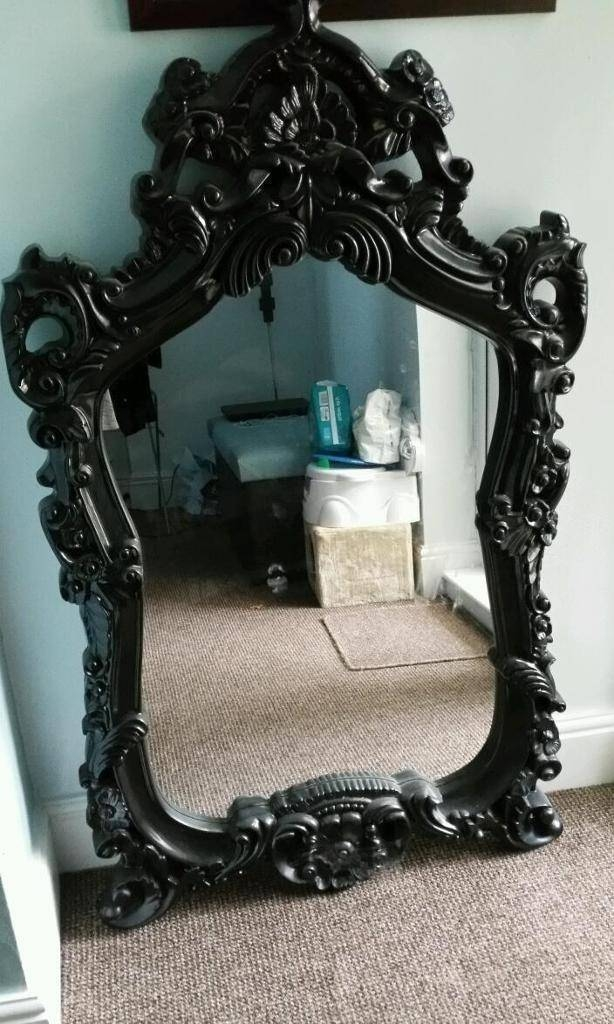Large Black Vintage Mirror | In Hull, East Yorkshire | Gumtree With Black Antique Mirrors (View 22 of 30)