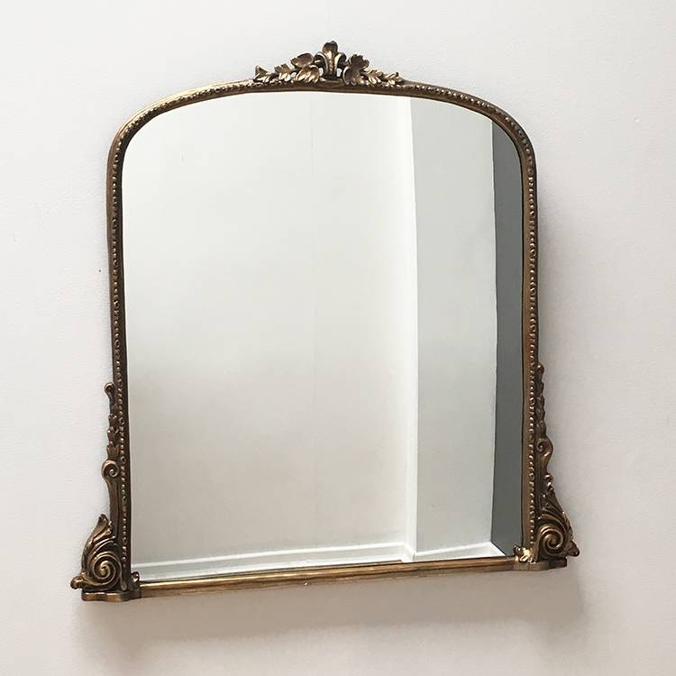 Large Carved Overmantle Mirror W100 X H102 Cm Large Carved Intended For Over Mantle Mirrors (#18 of 30)