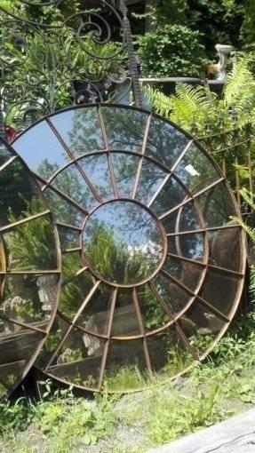 Large Circular Mirror – Foter Throughout Large Garden Mirrors (#22 of 30)