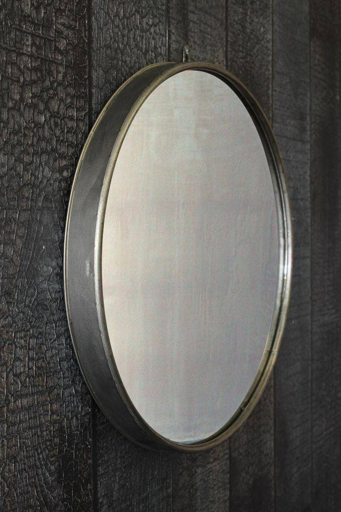 Large Circular Mirror With Metal Surround For Large Metal Mirrors (#18 of 30)