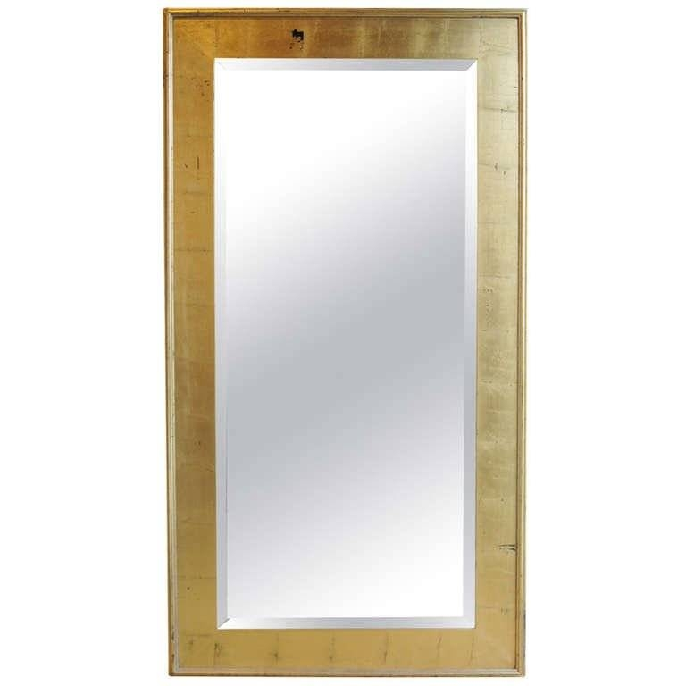 Large Contemporary Bevelled Mirror In Gold Leafed Frame At 1Stdibs Inside Large Bevelled Mirrors (View 15 of 20)