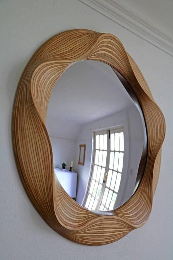 Large Convex Mirror Round Convex Mirrors Wooden Convex In Large Round Convex Mirrors (#17 of 30)