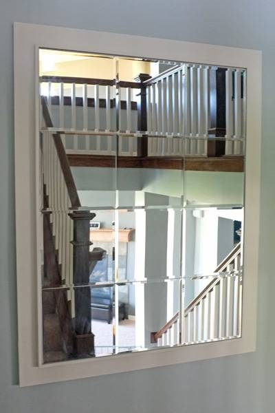 Large Custom Mirror Made Of Beveled Mirror Tiles Inside Large Bevelled Mirrors (View 9 of 20)