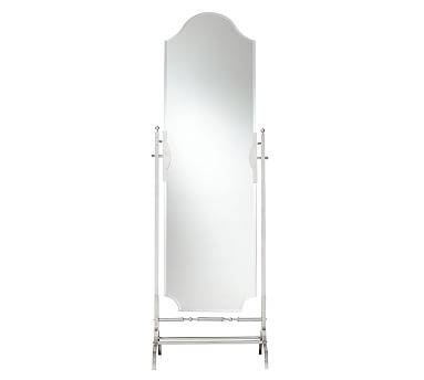 Large Decorative Standing Floor Mirrors | Decorative Full Length Pertaining To White Metal Mirrors (#14 of 20)