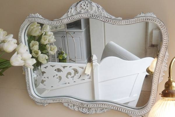 Large Framed Wall Mirrors | Large Frameless Wall Mirrors Throughout Large French Mirrors (#18 of 20)