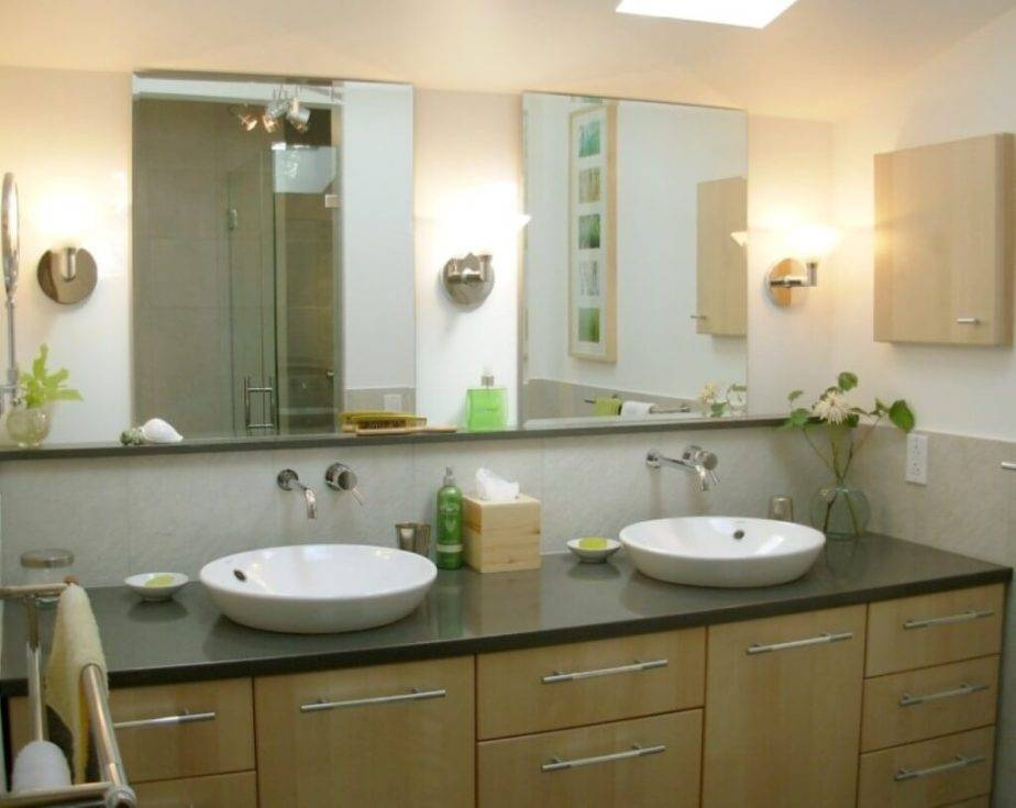 Large Frameless Bathroom Mirror Collection Including Mirrors Ideas Regarding Large Frameless Bathroom Mirrors (#24 of 30)