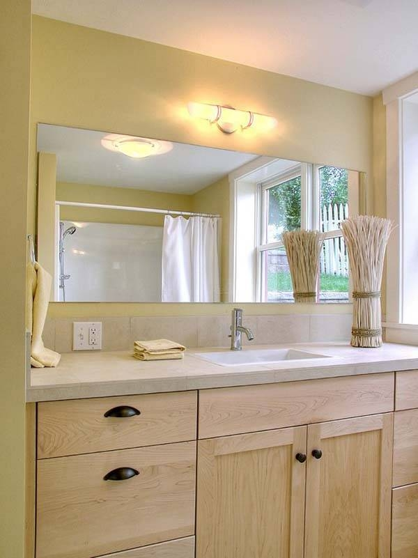 Large Frameless Bathroom Mirror With Regard To Large Frameless Bathroom Mirrors (#25 of 30)