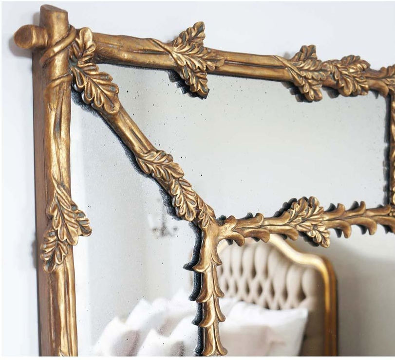 Large French Gold Gilt Mirror Full Length With Oak Leaf Frame Inside French Gilt Mirrors (#27 of 30)
