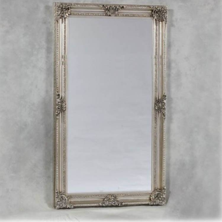 Large French Style Silver Mirror 210 X 117Cm French Style Silver With Regard To Large French Style Mirrors (#14 of 20)