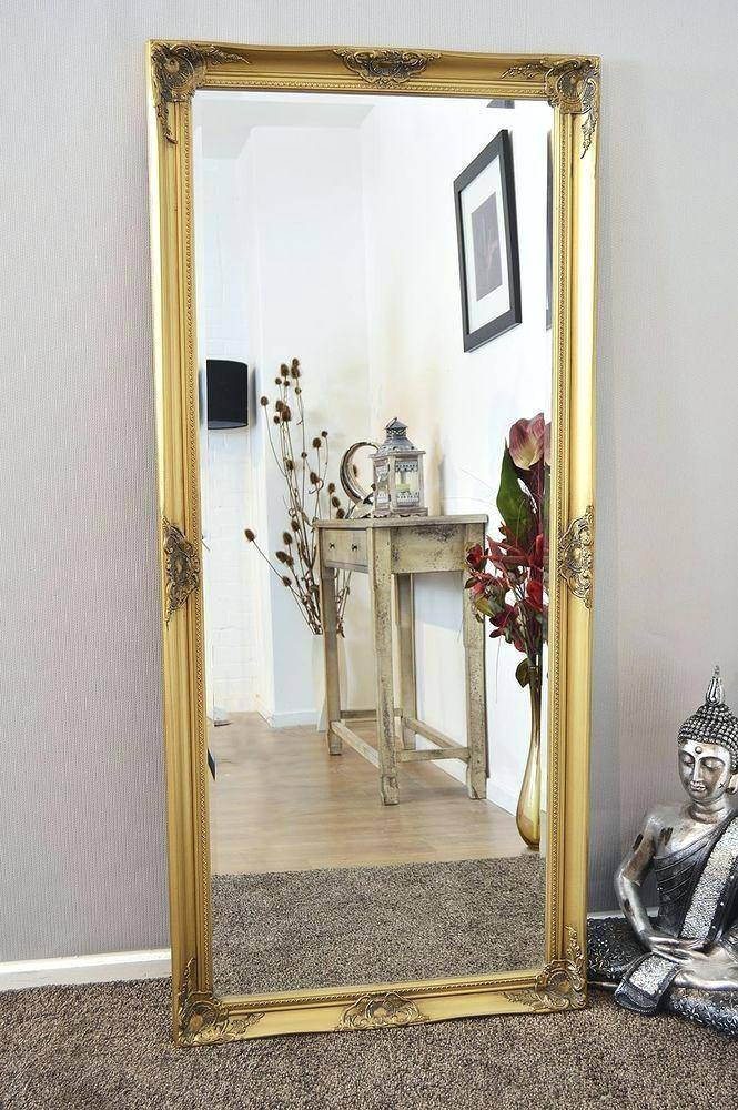 Large Full Length Mirror – Shopwiz In Shabby Chic Gold Mirrors (#29 of 30)