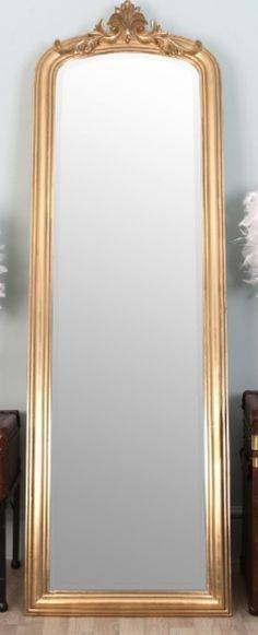 Large Full Length Shabby Chic Ornate Gold Wall Mirror 5Ft6 X 2Ft6 Throughout Gold Full Length Mirrors (#24 of 30)