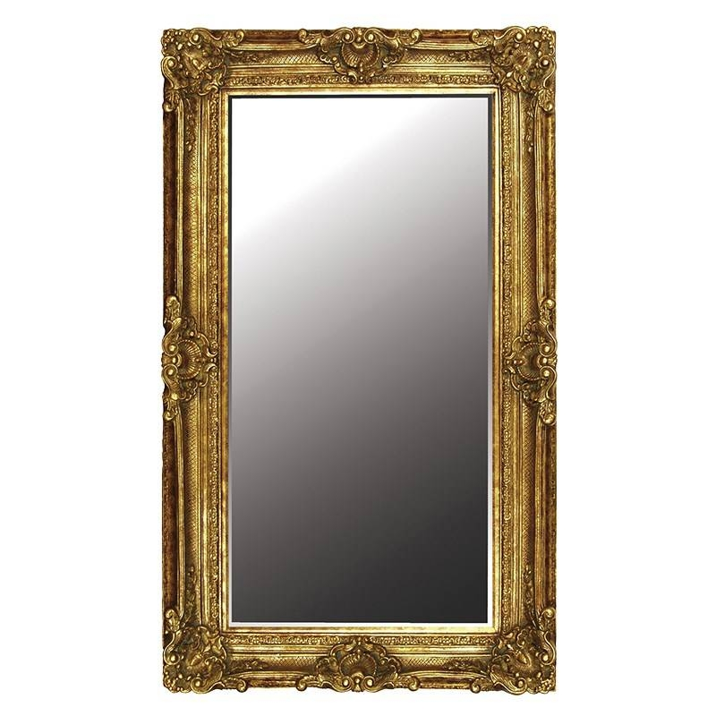 Large Gilt Floor Standing Mirror | Gold| Decorative Accessories Throughout Gold Standing Mirrors (#22 of 30)