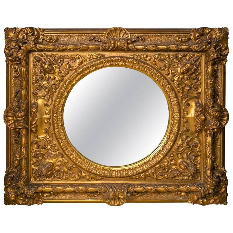 Large Gilt Framed Round Mirror For Sale At 1Stdibs With Regard To Large Gilt Framed Mirrors (#23 of 30)