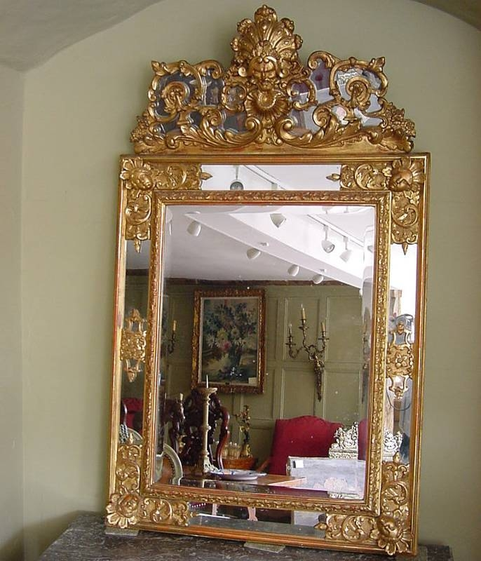 Large Gilt Italian Wall Mirror | Antique Mirrors Intended For Large Gilt Mirrors (#17 of 20)