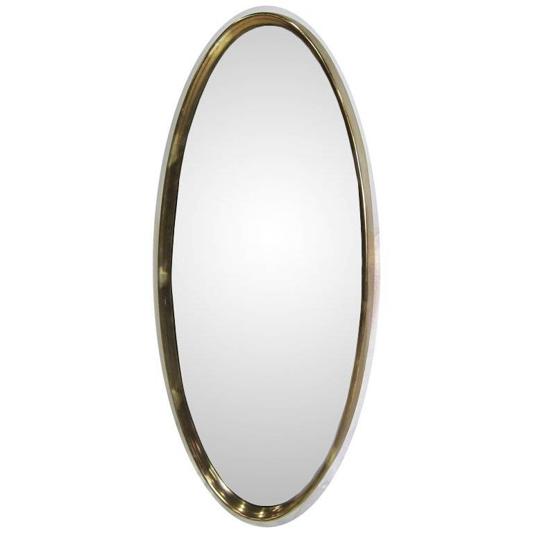 Large Gilt Oval Mirror For Sale At 1Stdibs Intended For Long Oval Mirrors (#19 of 30)