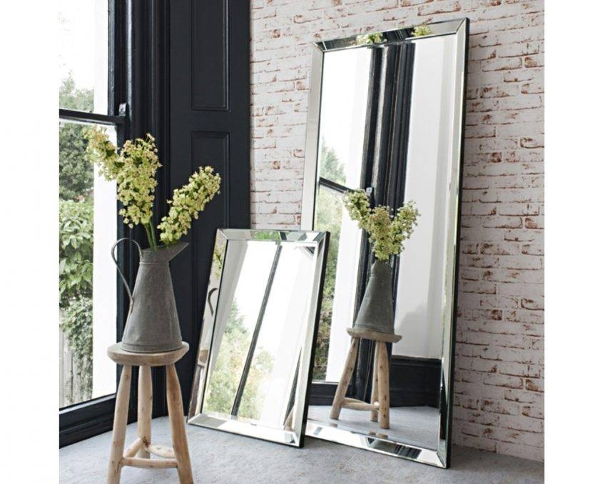 Large Glass Bevelled Wall Mirror – Harpsounds (#11 of 20)