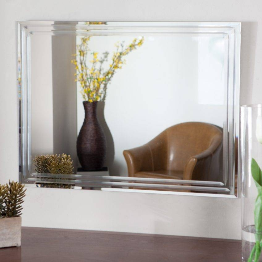 Large Glass Bevelled Wall Mirror – Harpsounds (#12 of 20)