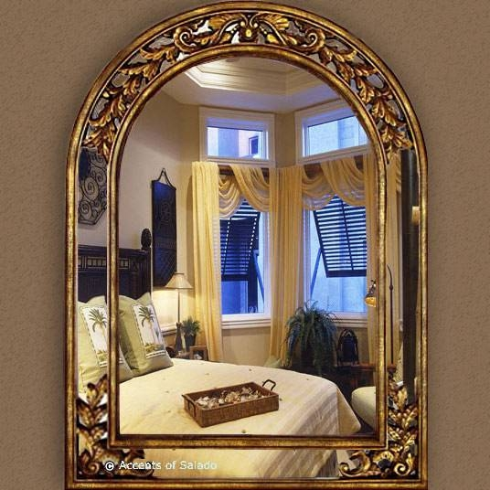 Large Gold Arch Mirror Throughout Gold Arch Mirrors (#15 of 20)