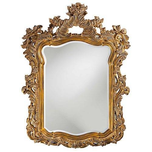 Large Gold Framed Mirror | Bellacor For Gold Antique Mirrors (#15 of 20)
