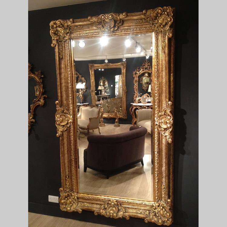 Large Gold Gilt Mirror 225 X 136Cm Large Gold Glit Mirror 225 X For Large Rococo Mirrors (#20 of 30)