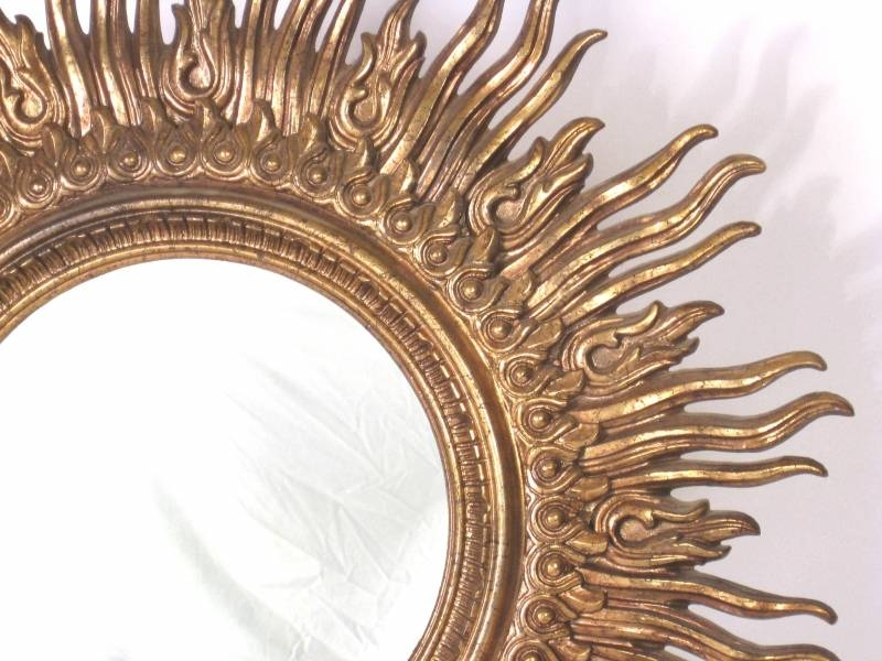 Large Gold Leaf Starburst Mirror: Sultanchic Vintage And Mid Inside Large Sunburst Mirrors (#11 of 20)
