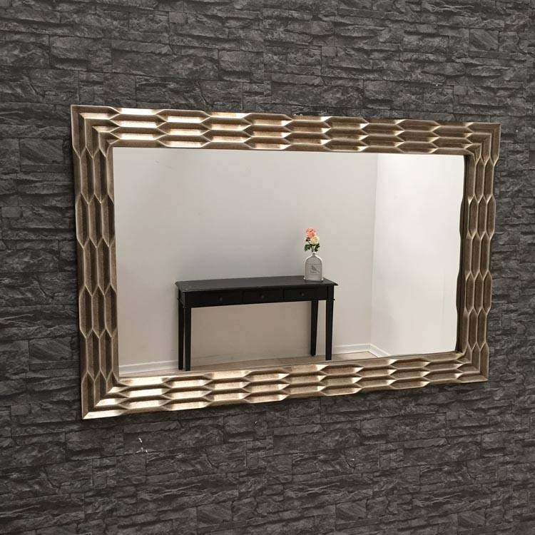 Large Gold Wall Mirror 160 X 100 Cm Antique Brass Mirror Within Gold Wall Mirrors (#19 of 30)