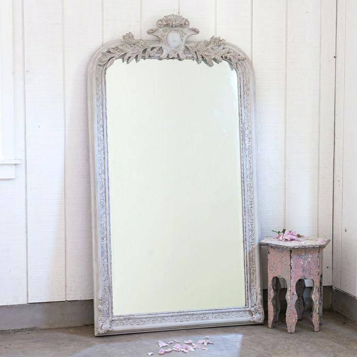 Large Green Mirror Mint Ornate Shabby Chic Cottage Big Mirrorlarge For Shabby Chic Floor Mirrors (#9 of 20)